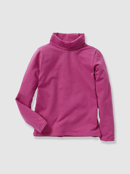 Soldes Hiver vertbaudet 2016 - indispensable fille - sous pull fuchsia